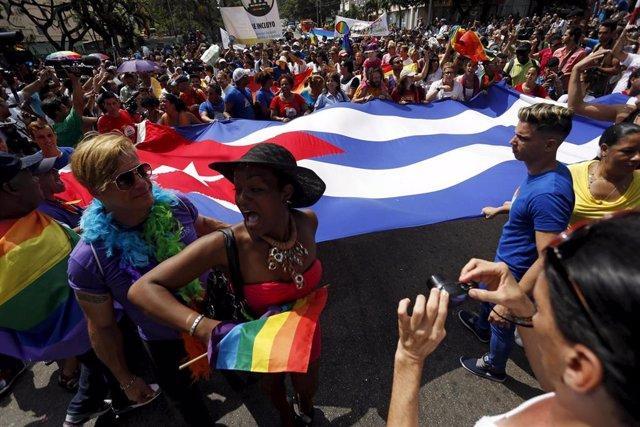 Marcha de homosexuales en La Habana