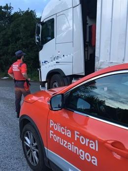 Sucesos.- Denunciado un camionero en Sumbilla tras dar positivo en cocaína y heroína