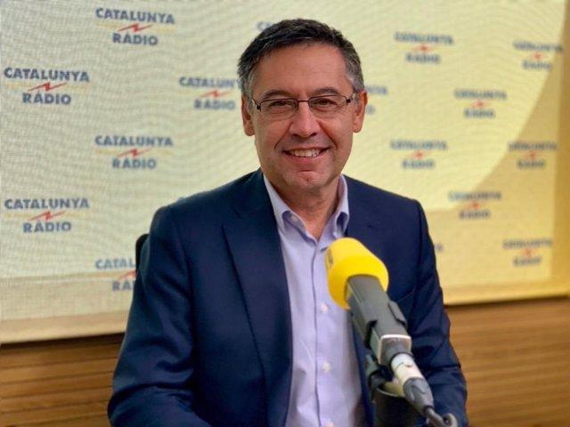 El presidente del FCB, Josep Maria Bartomeu, en El Matí de Catalunya Rdio