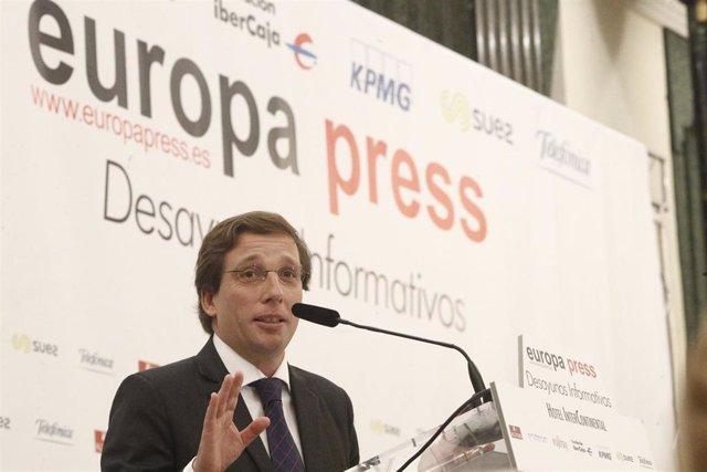 José Luis Martínez-Almeida protagoniza el Desayuno Informativo de Europa Press