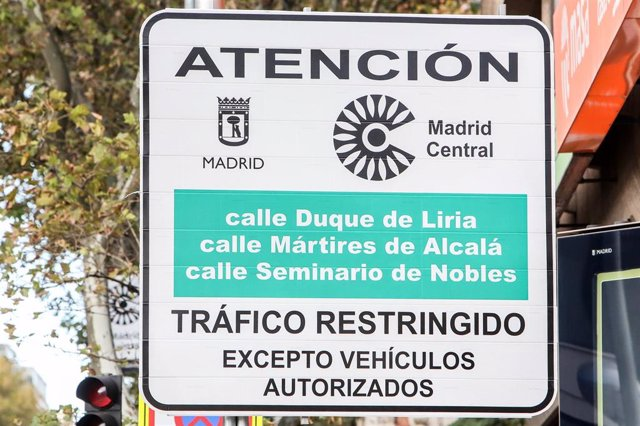 La contaminación por NO2 baja en Madrid Central un 17% en marzo respecto al año pasado, según Ecologistas