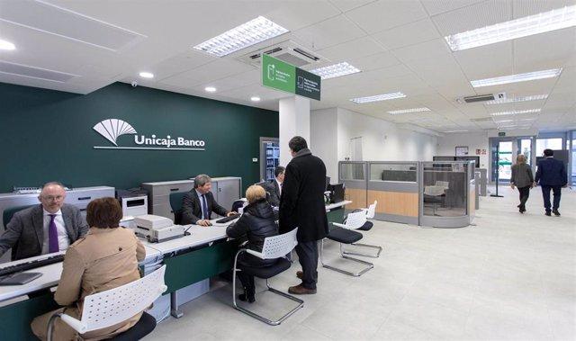 Ampliación.- El Grupo Unicaja Banco logra un beneficio neto de 63 millones en el primer trimestre, un 10,2% más