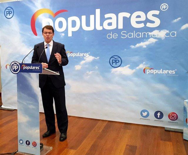 26M.- Fernández Mañueco Resalta La Próxima Apertura Del Nuevo Hospital De Salamanca