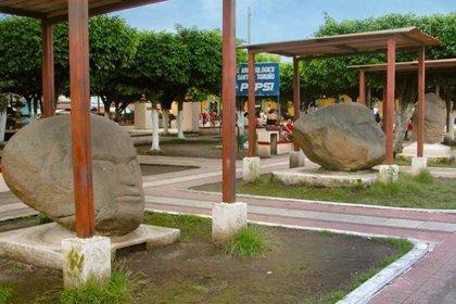 Descubren una anomalía magnética en las cabezas de piedra de Guatemala