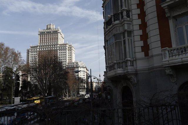 Edificio España de Madrid, plaza España