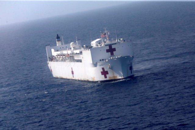 Venezuela.- EEUU anuncia el despliegue de un buque militar medicalizado