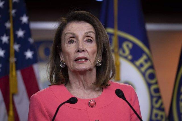 House Speaker Nancy Pelosi reacts to Barr hearing