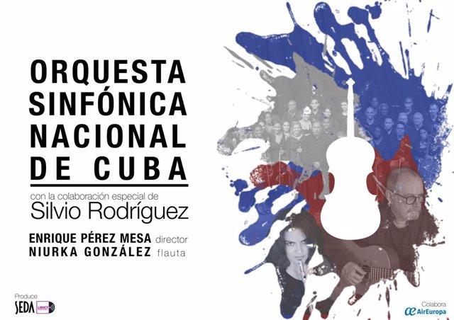 El cantautor Silvio Rodríguez actuará el 9 de mayo en Bilbao, acompañado por la Orquesta Sinfónica Nacional de Cuba