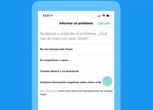 Twitter permet denunciar tuis amb informació falsa sobre el procés de votació en les eleccions europees