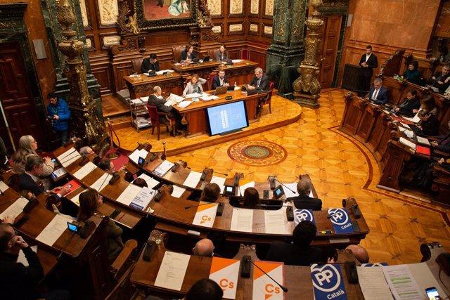 Ple extraordinari a l'Ajuntament de Barcelona sobre l'estat de la ciutat