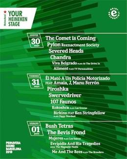 El Primavera Sound suma 17 artistes a l'escenari Your Heineken Stage