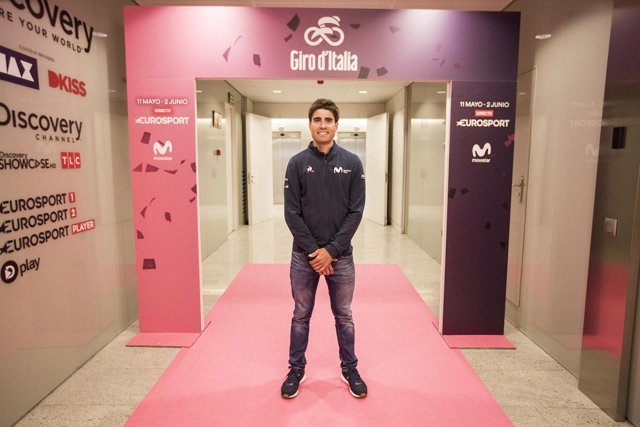 Mikel Landa en la presentación del Giro de Eurosport