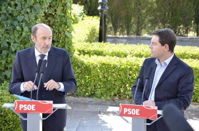 García-Page y Rubalcaba Ejecutiva Federal PSOE en Toledo