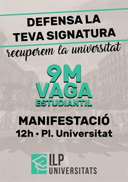"""Estudiantes catalanes llaman a """"vaciar las aulas"""" por una rebaja de tasas universitarias"""