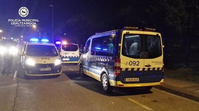 Sucesos.- Desalojadas varias familias por un incendio en un garaje en el Paseo de Santa Lucía, en Pamplona