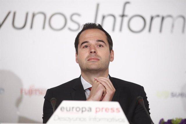 Ignacio Aguado protagoniza el Desayuno Informativo de Europa Press