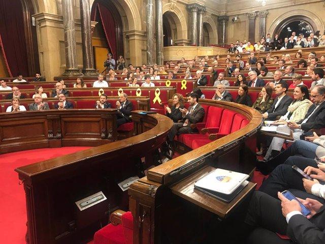 """Junqueras en acomiadar-se del Parlament: """"No ens rendirem encara que ens empresonin"""""""
