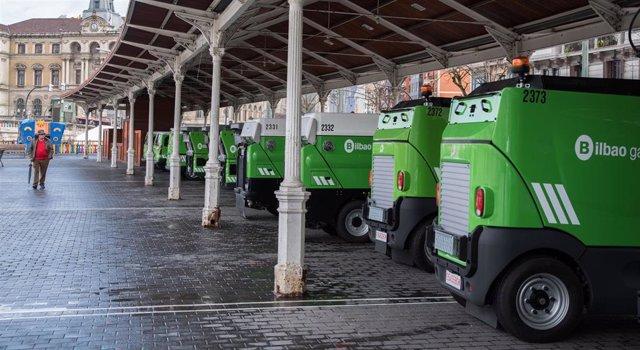 Vehículos del servicio de limpieza
