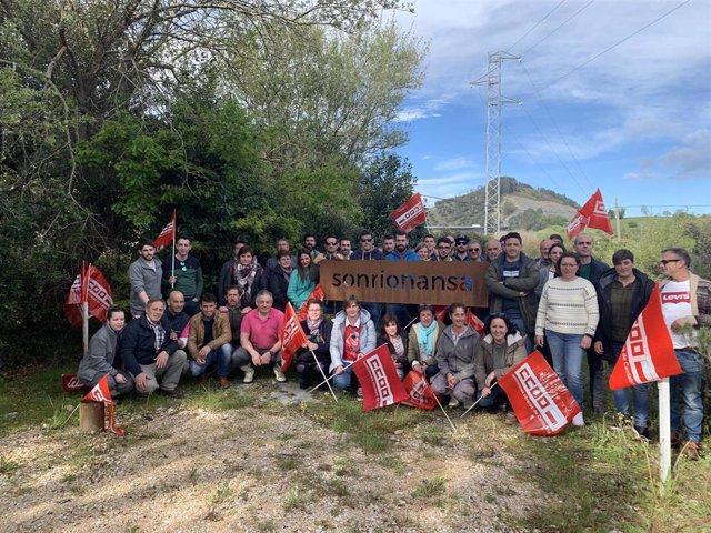 Toda la plantilla de Sonrionansa secunda la primera jornada de huelga, según CCOO