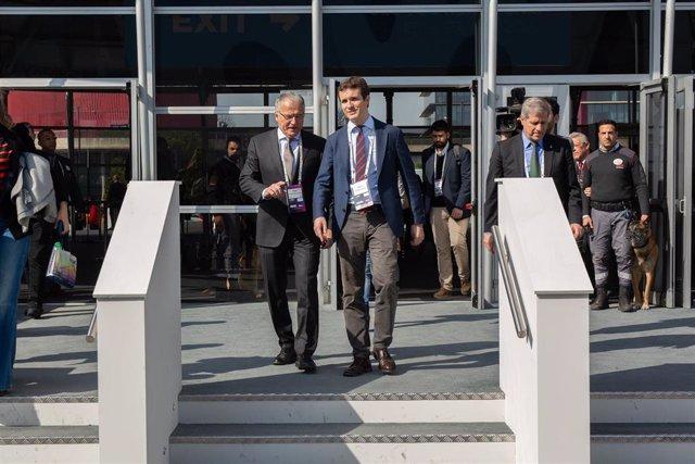 Visita al Mobile World Congress Barcelona - MWC 2019 del presidente del PP, Pablo Casado