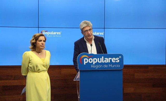 """Miralles: """"El Gobierno socialista desprecia, una vez más, a la Región de Murcia y nos castiga con la sanidad y el agua"""""""