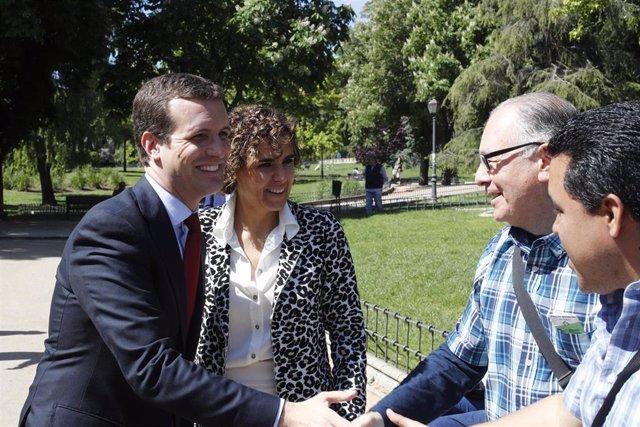 Pablo Casado clausura un acto del PP para conmemorar el Día de Europa