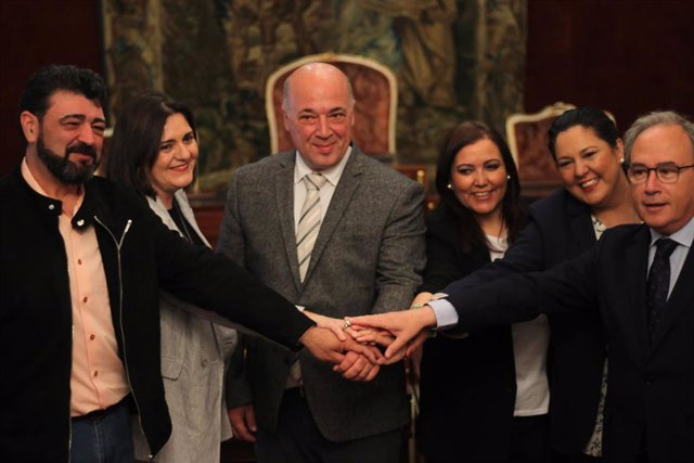CórdobaÚnica.- Diputación, UGT, CCOO y CECO ejemplifican un año más su 'Compromiso por Córdoba'