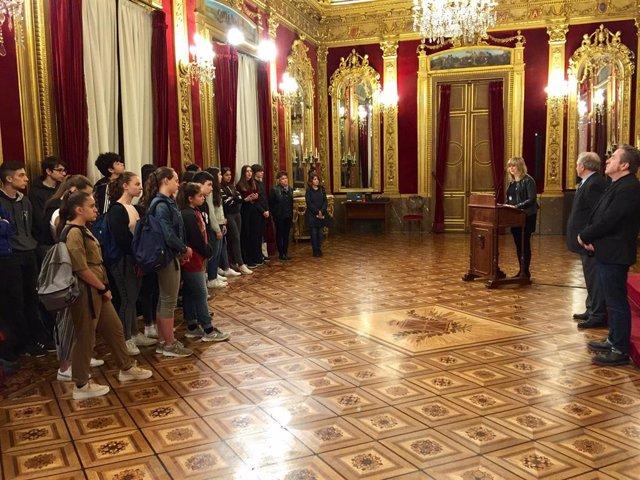 Ollo recibe a 25 estudiantes franceses del Programa ALCE