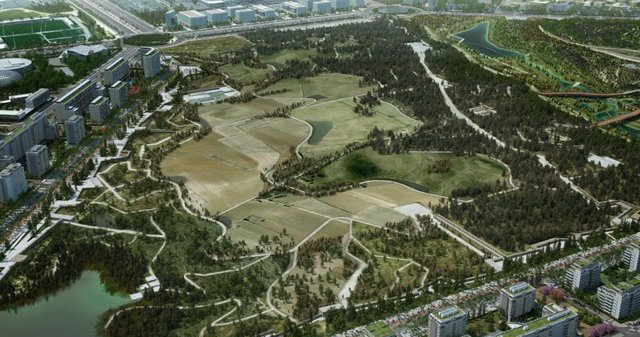 Valdebebas contará con una zona verde casi dos veces mayor que el Central Park de Nueva York