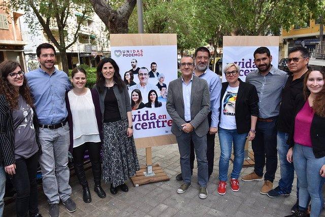 """26M.- Unides Podem Dóna El Tret de sortida A la Campanya Electoral A Palma Sota El Lema """"La Vida Al Centre"""""""