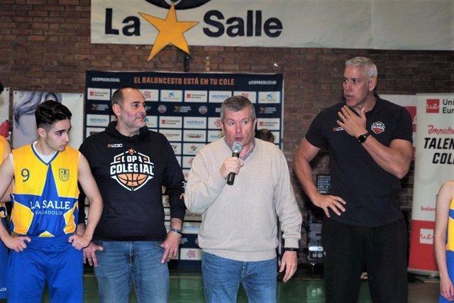 Arlaukas, en la jornada 'High School Experience' de Copa Colegial en el Colegio de La Salle de Valladolid