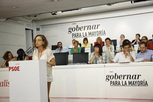 La secretaria general del PSOE melillense, Gloria Rojas