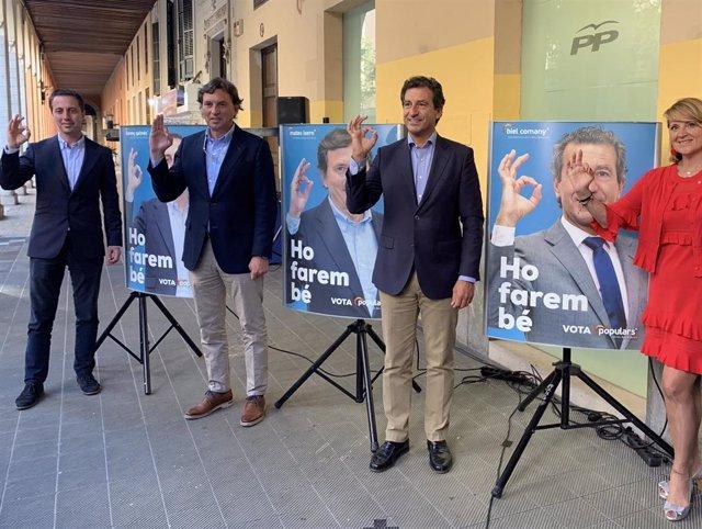 """26M.- El PP Se Presenta Como """"La Primera Opción Del Centroderecha"""" En Baleares En El Inicio De La Campaña Electoral"""