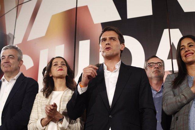 Elecciones generales 28A 2019. Seguimiento de resultados en la sede de Ciudadanos