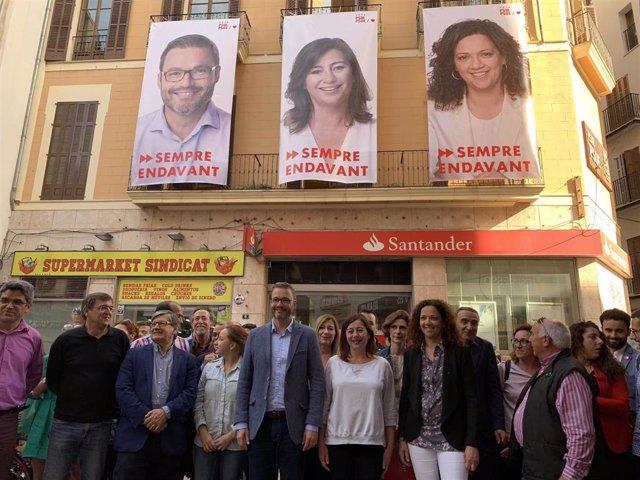 """26M.- El PSIB Empieza La Campaña Electoral Apelando A La Movilización Del Electorado """"Para No Volver 40 Años Atrás"""""""