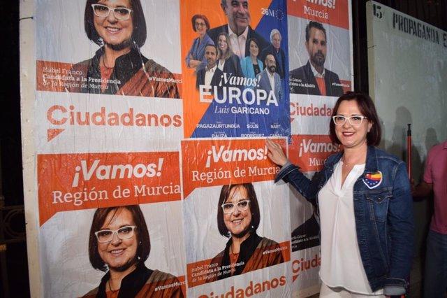 """26M.- Isabel Franco: """"Cs Viene A Traer El Cambio; Es El Zumo De Naranja Contra El Bipartidismo"""""""