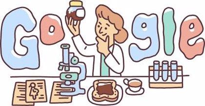 Google homenajea en su 'doodle' a Lucy Wills, la médica que descubrió cómo prevenir la anemia prenatal en las mujeres