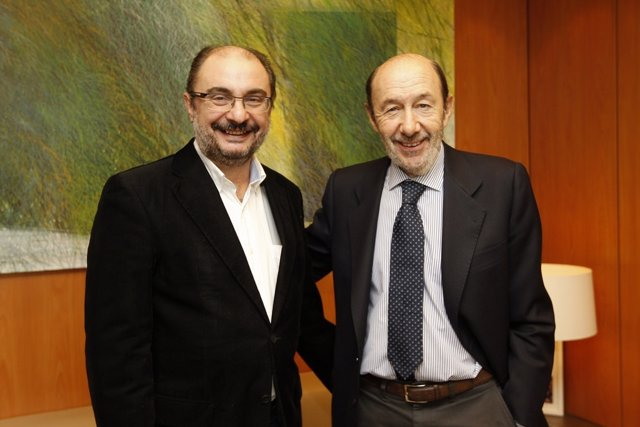 Javier Lambán y Alfredo Pérez Rubalcaba