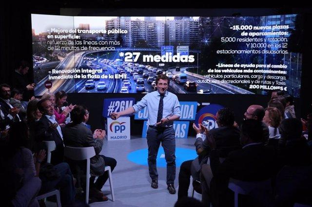 """26M.- Almeida Pondrá Madrid """"En Marcha"""" Con 200 Medidas, Entre Ellas Bajada De Impuestos Y Grandes Infraestructuras"""
