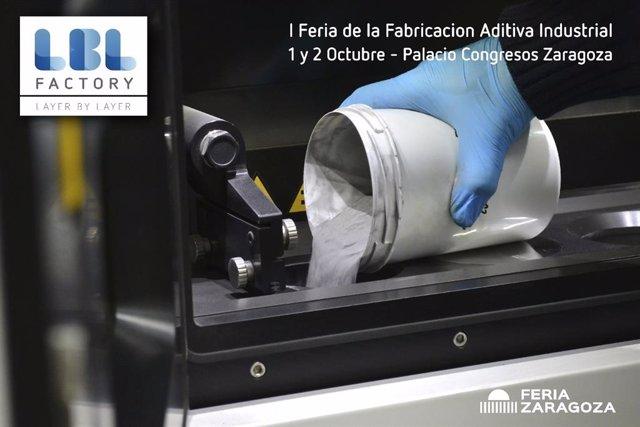 FeriaZaragoza.- El Salón LBL Factory reúne al sector de la impresión 3D el 1 y 2 de octubre