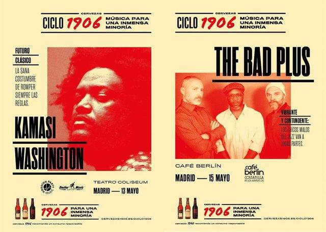 Kamasi Washington y The Bad Plus, próximos conciertos del Ciclo 1906 en Madrid