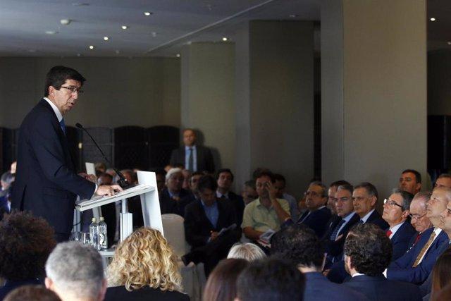 El vicepresidente de la Junta de Andalucía, Juan Marín, participa en el Foro Málaga Lidera