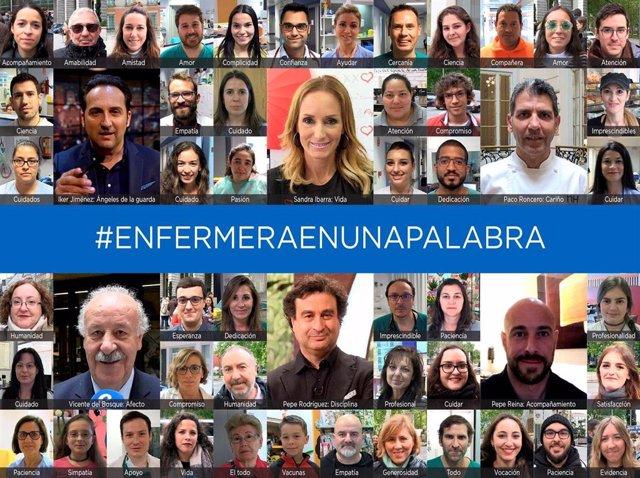 Del Bosque, Iker Jiménez o Pepe Rodríguez participan en una campaña para visibilizar la labor de los enfermeros