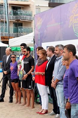 """Arranca el ITF Gran Canaria 2019 con un tenis playa isleño """"consolidado"""", que espera enganchar más jugadores"""