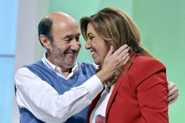 """Susana Díaz, tras la muerte de Pérez Rubalcaba: """"España te recordará siempre; yo te echaré de menos cada día"""""""