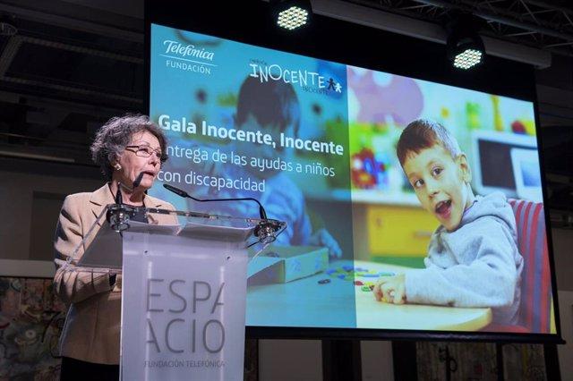 La Fundación Inocente, Inocente entrega 850.000 euros para 71 proyectos asistenciales para niños con discapacidad