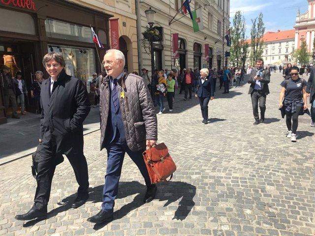 """26M.- Puigdemont Dice No Estar """"En Condiciones"""" De Apoyar La Designación De Iceta Como Senador"""