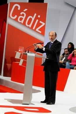 """Cádiz.- El PSOE expresa su """"profunda conmoción"""" por la muerte de Rubalcaba, que fuera diputado por Cádiz"""