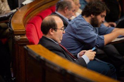 Torrent convoca para el jueves el pleno del Parlament que vote si Iceta será senador