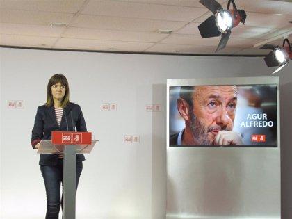 """Mendia recuerda que Rubalcaba se """"arriesgó y sufrió lo que no está escrito por traer la libertad"""" a Euskadi"""